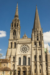 Front of Cathedral of Our Lady of Chartres (Cathédrale Notre-Da