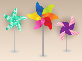 Colorful Pinwheels Design