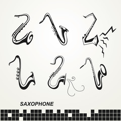 Set saxophones sign
