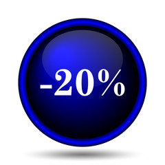 20 percent discount icon