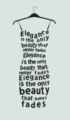 Woman dress with the quote. Vector