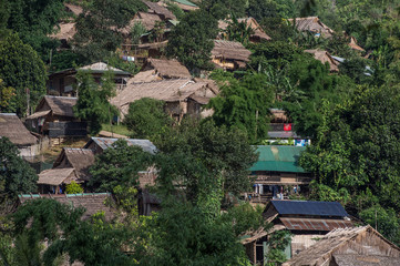 Hill tribe village in Tak in Northern Thailand