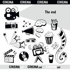 Cinema sign set