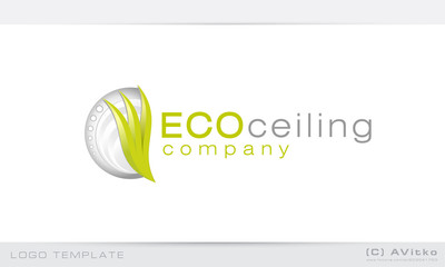 Abstract logo template, eco ceiling business, eco services
