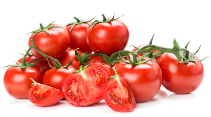 red tomatoes vegetable with cut