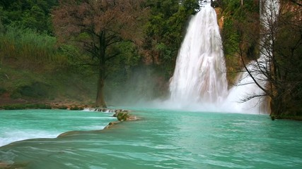 Minas Viehas waterfall in Mexico