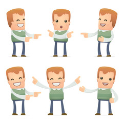 set of neighbor character in different poses