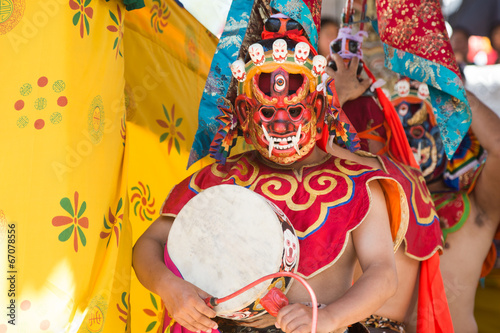 Leinwanddruck Bild Tsechu Festival in Thimphu, Bhutan