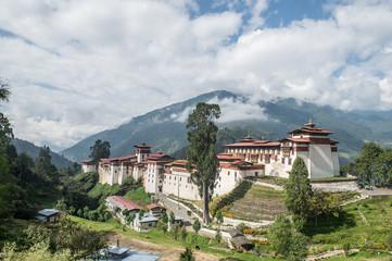 Trongsa Dzong monastery in Bhutan