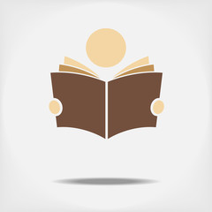 Student reading a book. Fully editable vector.