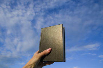 The book against the blue sky