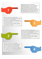 Vector infographic timeline report with pointed fingers