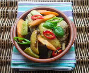 chicken with baby vegetables