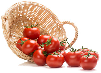 Tomatoes spilling out of basket