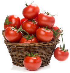tomatoes in a woven basket