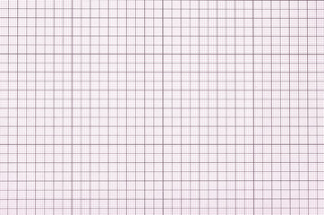 Old violet graph paper square grid background.