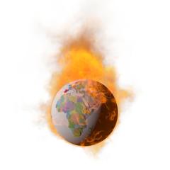 燃える地球