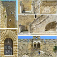 Collage Wonderful swabian castle - Apulia, Italy