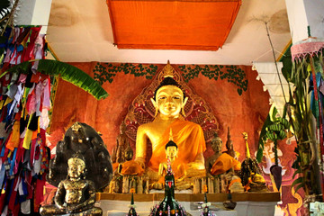beautiful  Thai Buddha Golden Statue