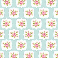 Retro rose pattern