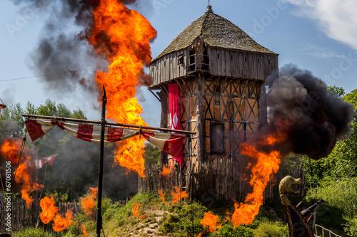 L'attaque du Fort de l'An mil par les Vickings au Puy du Fou - 67081506