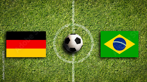 canvas print picture Deutschland vs. Brasilien