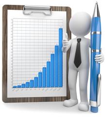 Wachstum Gewinn Daumen hoch