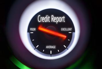 Excellent Credit Report Concept