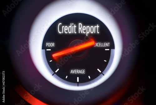 Poor Credit Report Concept