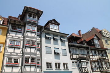 Giebelhäuser in Lindau