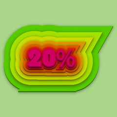 colorful 20%