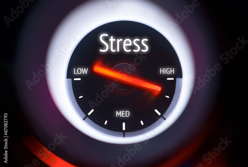 canvas print picture High Levels of Stress Concept