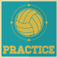 Retro Sport Practice Volleyball Sign