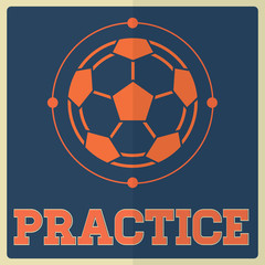 Retro Sport Practice Soccer Sign