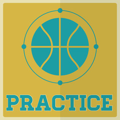 Retro Sport Practice Basketball Sign