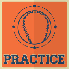 Retro Sport Practice Baseball Sign