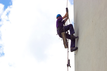 Climber on skyscraper