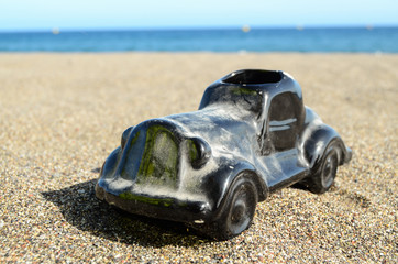 Toy Car on the Seashore