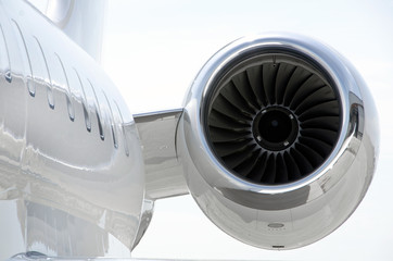 Jet Engine on a private aircraft - Bombardier
