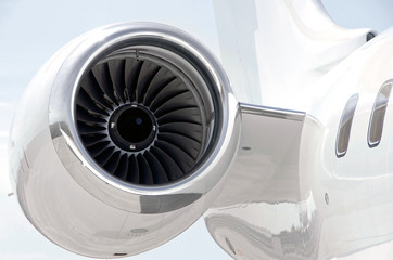 Jet Engine on a Private Plane - Bombardier