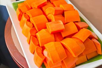 Sweet papaya fruit