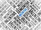 Marketing background - Incentive - blur and focus poster