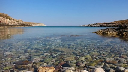 clear water in a creek of the Peloponnese