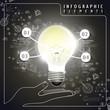vector idea bulb infographic elements
