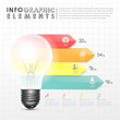 light bulb abstract bar chart infographic elements