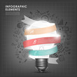bulb with ribbon abstract infographic elements