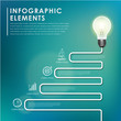 bulb with stair concept abstract infographic elements
