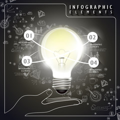 vector idea bulb infographic elements