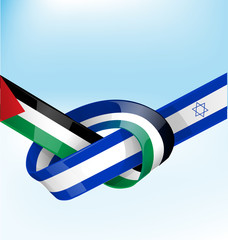 palestine and israel ribbon flag