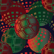 Bauble Themed Christmas Seamless Background